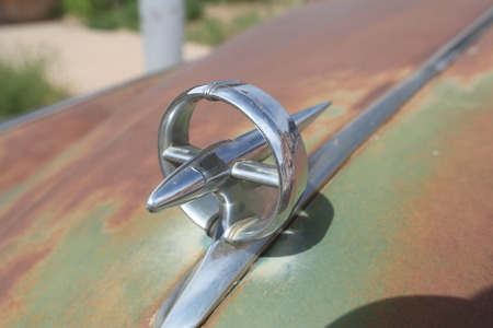 Metal Car Badge. Close up