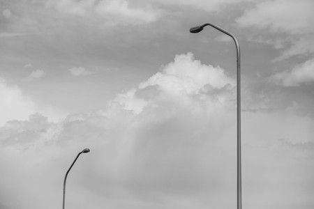 Street lights. Black and white