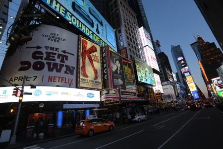 Billboards in New York Editorial