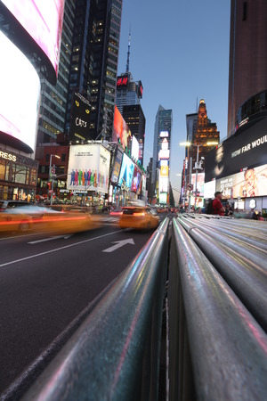 Blurred traffic in New York Editorial
