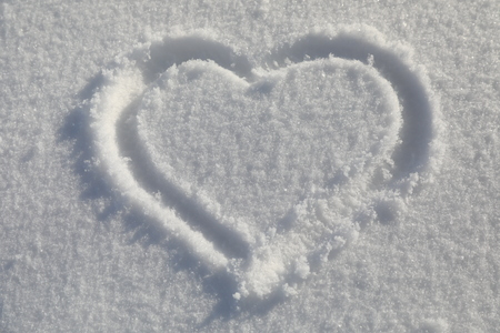 Heart sign on snow