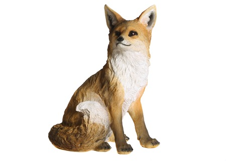 Fox figurine. White background