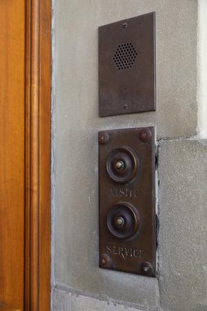 Switzerland, Geneva - 06 20 2018: Vintage doorbell on a house in geneva Banco de Imagens