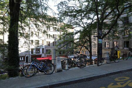 Parked bike street