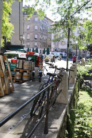 Row of motor bikes