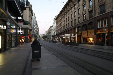 Rue de la Croix dOr in downtown Geneva, Switzerland