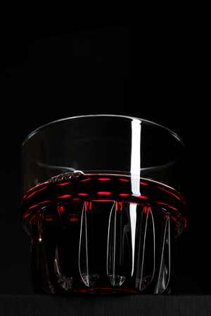 glass on a black background with a cocktail Banco de Imagens