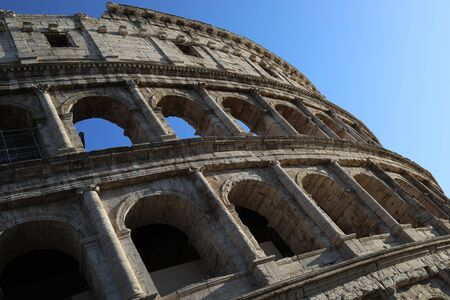 Ruins of the Colosseum in Rome.