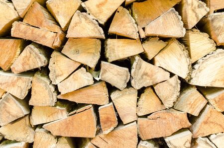 Background, texture of the wall from the folded logs.