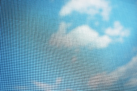 netting: Mosquito gaas en hemelachtergrond
