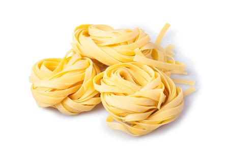 Three Italian pasta rolls isolated