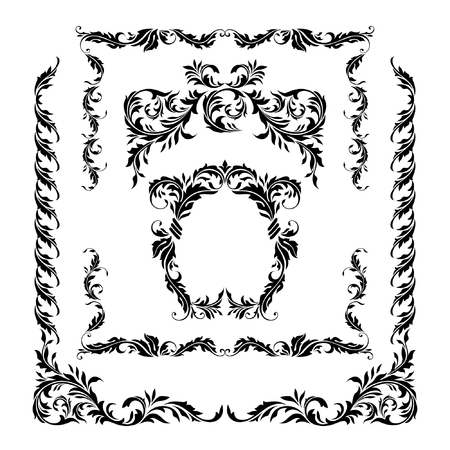 Vector decorative frames from the natural elements. For registration of pages, certificates, cards, diplomas, congratulations.