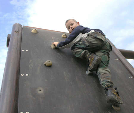 Climbing boy Stock Photo - 275018