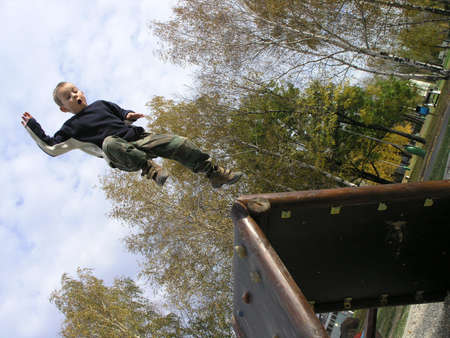 Jumping boy photo