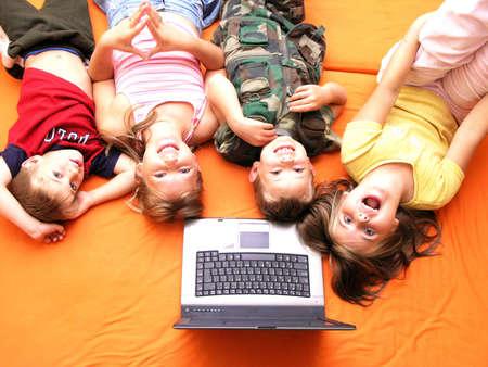 Children and laptop III