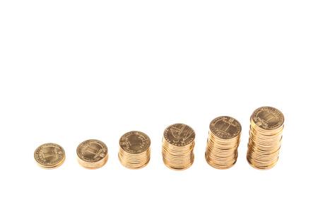 Ukrainian hryvnia, coin 100 cents. The financial crisis in 2015 Stock Photo
