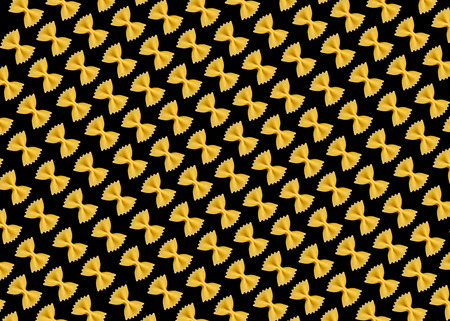 diagonals: Background of pastas diagonals on the black base Stock Photo