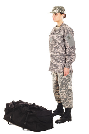 lieutenant: Soldier in the military uniform and boots, isolated