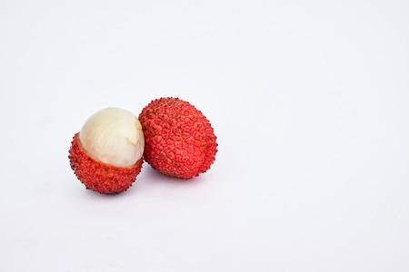 sweet lychee fruit Stock Photo