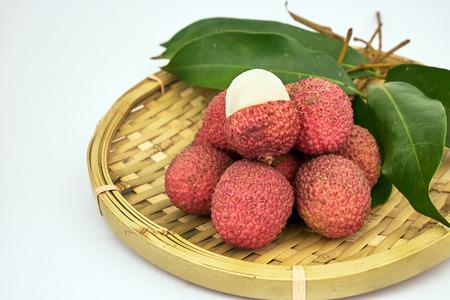 lychee: sweet lychee fruit Stock Photo