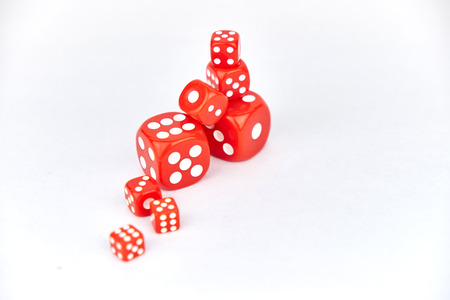 red dice: red dice Stock Photo