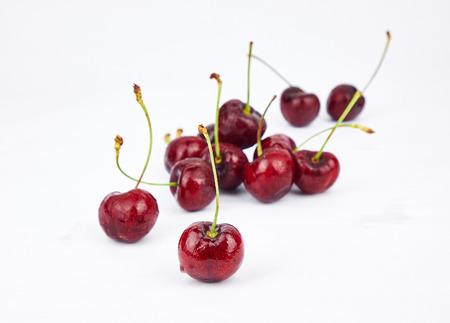 fresh cherries from farm Stock Photo