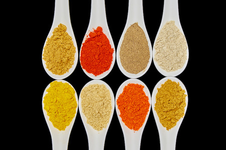 Colourful spices and herbs