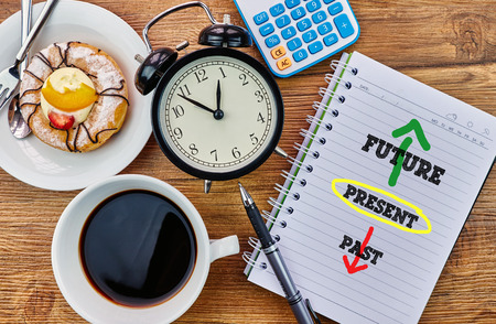Future, Present, Past - The modern concept of time management to reach the goal of increasing productivity.