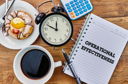 mangement: Operational Effectiveness - The modern concept of time management to reach the goal of increasing productivity. Stock Photo