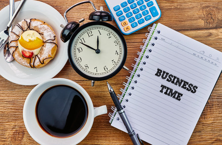 Business Time - The modern concept of time management to reach the goal of increasing productivity.