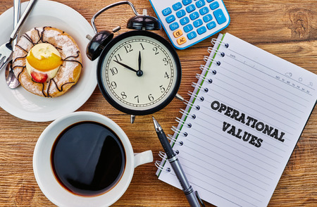 mangement: Operational Values - The modern concept of time management to reach the goal of increasing productivity.