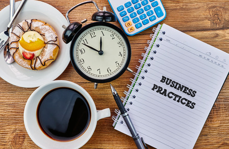 Business Practices - The modern concept of time management to reach the goal of increasing productivity.