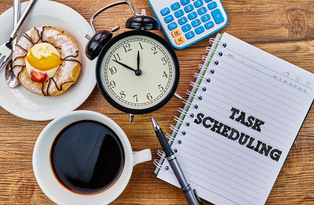 Task Scheduling - The modern concept of time management to reach the goal of increasing productivity.