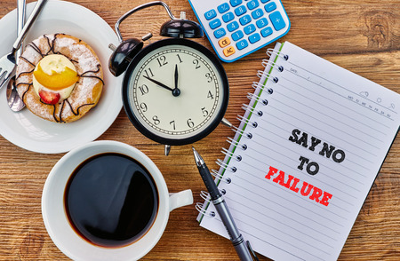 Say No To Failure - The modern concept of time management to reach the goal of increasing productivity.