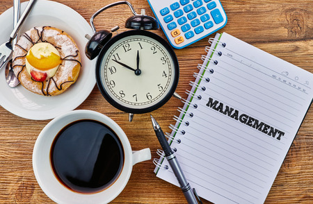 mangement: Management - The modern concept of time management to reach the goal of increasing productivity.