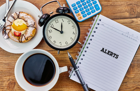 Alerts - The modern concept of time management to reach the goal of increasing productivity.