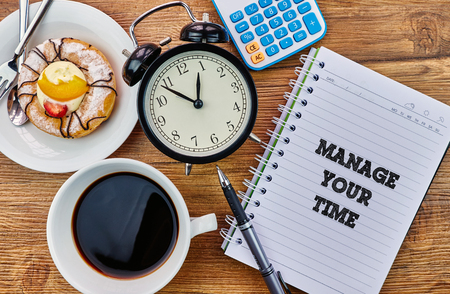 Manage Your Time - The modern concept of time management to reach the goal of increasing productivity.
