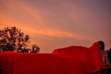 reclining: Reclining reclining statue sunset sunset falls