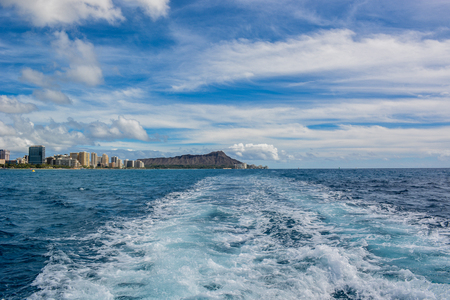 diamond head: Diamond Head from Hawaii ship