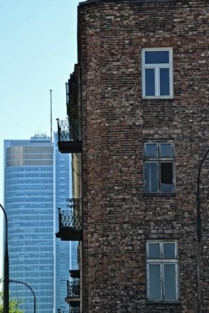 versus: Old building versus modern one