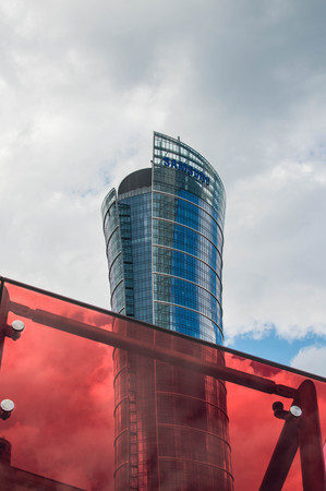 Warsaw Spire building. Headquarters of Samsung Poland.