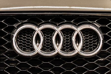 Audi Emblem Close Up Stock Photo Picture And Royalty Free Image - Audi emblem