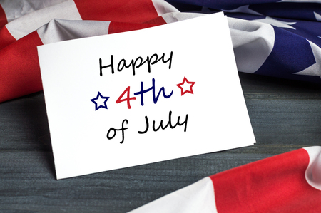 sheet of paper: Happy 4th of July - Independence Day