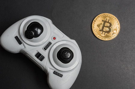 Manipulation of bitcoin with gamepad - concept