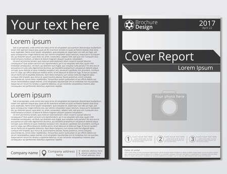 Broschüre Design Geometrische Vorlage Zusammenfassung. Schwarzrote ...