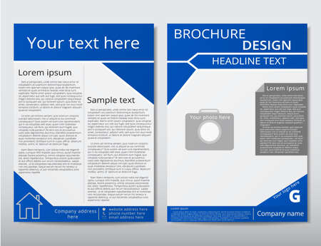 adverts: Vector flyer brochure design geometric template abstract. A4 size.