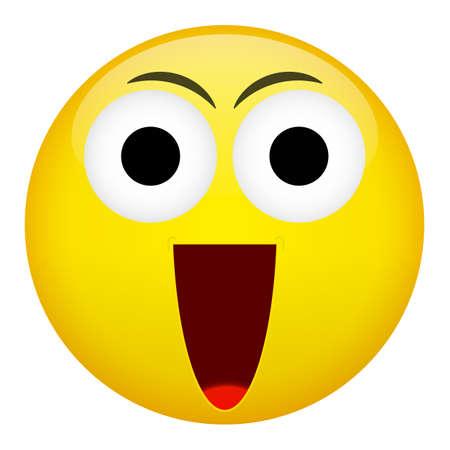 laugh: Smile laugh frown emotion. Emoji vector illustration.