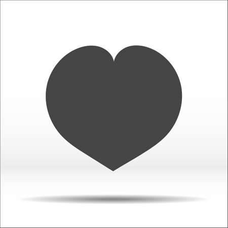throb: Grey heart. Vector illustration and icon.