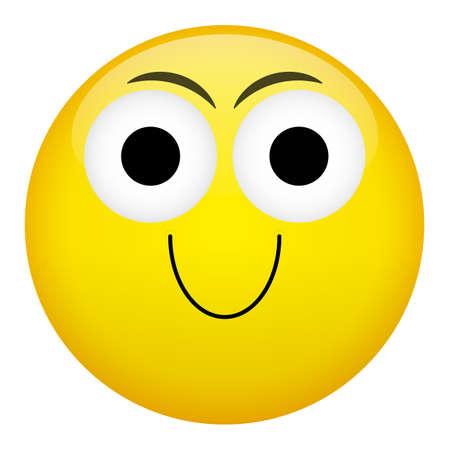 frown: Smile laugh frown criminal evil emotion. Emoji vector illustration. Illustration