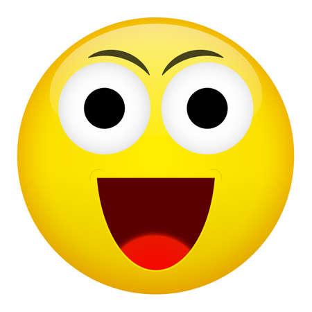 malefactor: Smile laugh frown emotion. Emoji vector illustration.